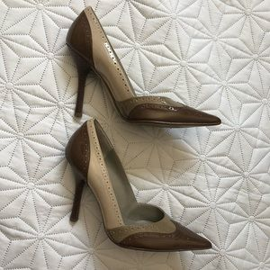 GUESS Leather Brown Shoes Heels 7.5
